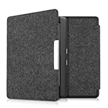 kwmobile Flip Case for Kobo Glo HD (N437) / Touch 2.0 - eBook Case Cover Bag Cover with Design Felt in dark grey