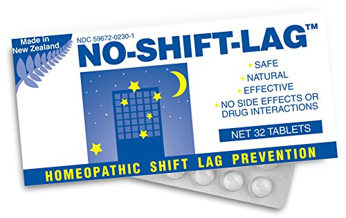Miers Labs No Shift Lag Homeopathic Shift Fatigue Remedy, 32 Count ()