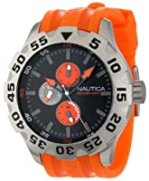 Nautica Men's N15565G BFD 100 Multifunction Black Dial Watch from Nautica