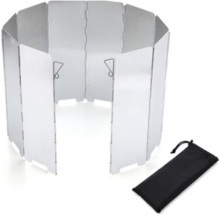 Camping Wind Shield Blocker Venus valink 8//9//10Pcs Plates Outdoor Camping Stove Windshield Foldable Camping Cooker Wind Screen Gas Stove Windbreak Aluminum Alloy Windscreen for BBQ Picnic