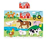 Ryans Room Small World Toys Wooden Puzzles - Farm