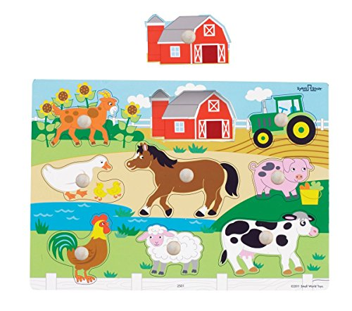 Small World Toys Ryan's Room Wooden Puzzles - Farm