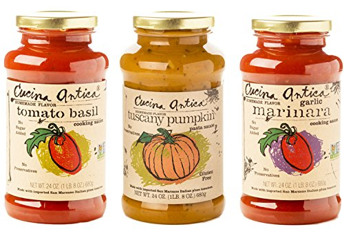 Cucina Antica Pasta Sauce, Variety Pack with Tuscany Pumpkin, 3 Count