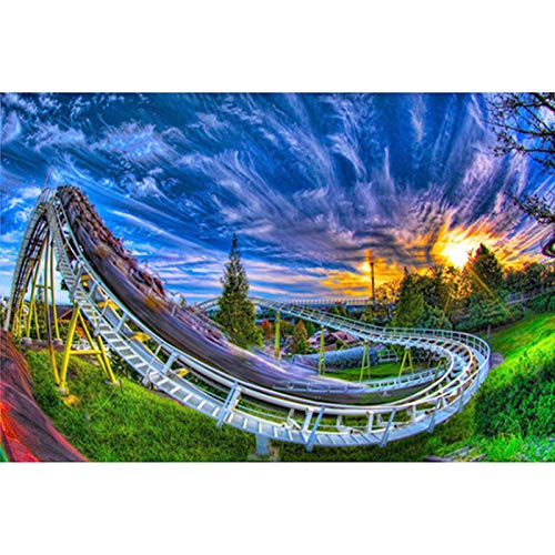 Paintworks Paint By Number Kit For Adults Kids Beginner, Diy Canvas Painting By Numbers For Home Decoration,Twilight Roller Coaster,16X20Inch