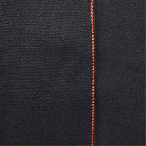 Night Black Cotton Japanese Selvedge Bull Denim, Fabric by The (Japanese Denim Fabric)