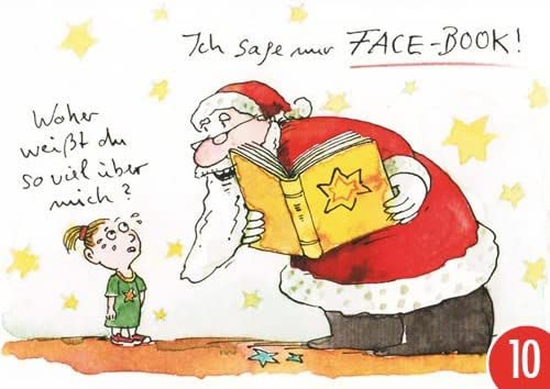 Pack de 10: Postal A6 + + + Navidad de Modern Times + + + Face de ...