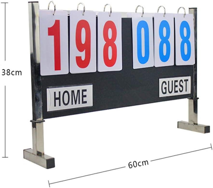 Cuadro de indicadores Flip Portable Scoreboard Scoreboard for béisbol Fútbol Tenis de mesa Voleibol Baloncesto Atletismo Deportes Curling Esgrima Fútbol Juego de hockey sobre hielo Herramienta de punt