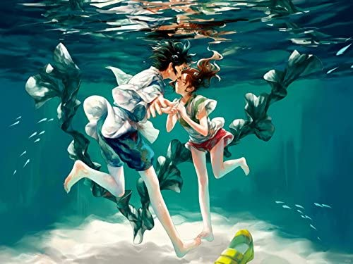 Amazon Com Wv6136 Spirited Away Haku Ogino Chihiro Sen Beautiful Amazing Anime Manga Art 16x12 Print Poster Posters Prints