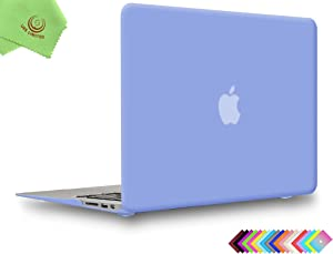 UESWILL Smooth Matte Hard Shell Case Cover for 2010-2017 Release MacBook Air 13 inch (Model A1466 / A1369) + Microfibre Cleaning Cloth, Serenity Blue
