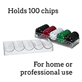 Brybelly Clear Acrylic Poker Chip Trays-Pack of 10