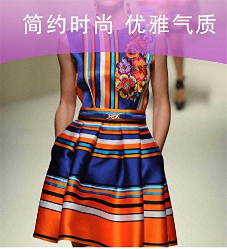 Ceinture Femme À Boucle En Cuir Verni Accessoires De Ceinture Taille Mode Simple Robe D'été Décoratif Ceinture En Cuir Bleu Rouge