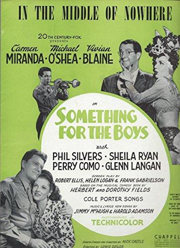 Carmen Sheet Music (In The Middle Of Nowhere-Carmen Miranda-1944 Movie Sheet Music-Something For The Boys)