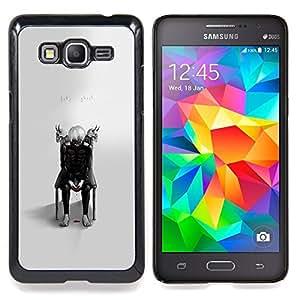 """Tokio Ghost"""" - Metal de aluminio y de plástico duro Caja del teléfono - Negro - Samsung Galaxy Grand Prime G530F G530FZ G530Y G530H G530FZ/DS"""