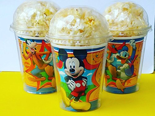 Set of 8 - Mickey Mouse Party Cups, Popcorn Cups, Goody Bags, Favor Boxes by - Clubhouse Treat Bags Mickeys