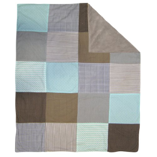 Trend Lab Cotton (Trend Lab Cocoa Mint Multi-Patched Receiving Blanket)