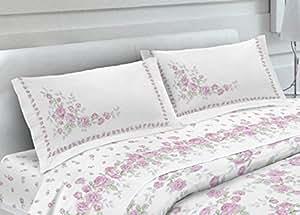 Par de fundas de almohada (100% algodón piazzate (Fantasia Cloe con botones laterales