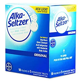 Alka-Seltzer PFY BXAS50 80659297 Antacid and Pain Relief Medicine, Two-Pack (Pack of 50)