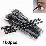 Unpre(TM) 100Pcs Spiral Shape Disposable Silicone and Nylon Eyelash Brush Cosmetic Eye Lash Extension Applicators