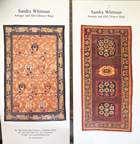 Sandra Whitman: Antique and Old Chinese Rugs - 2 booklets (Sandra Rug)
