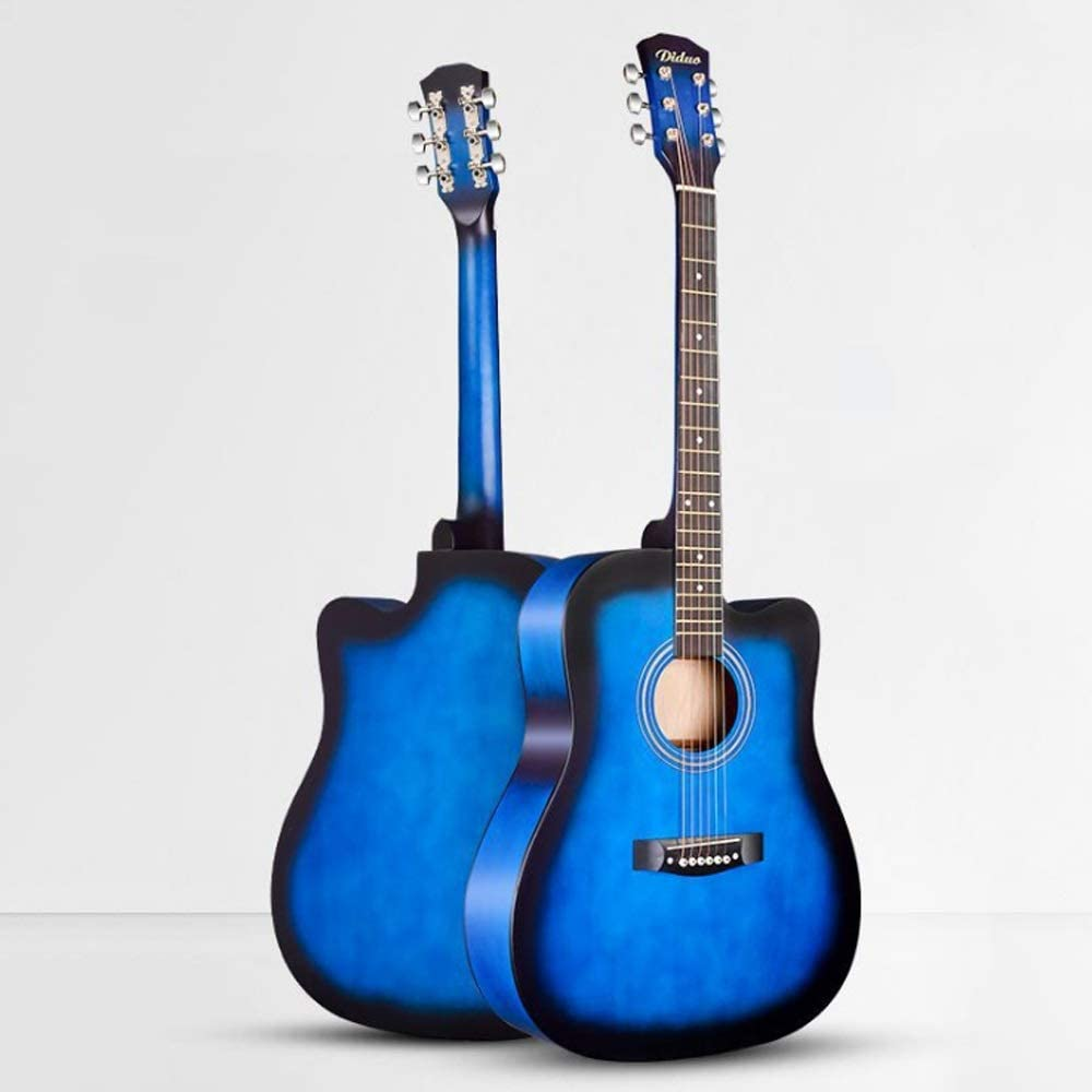 Boll-ATur Guitarra acústica for principiantes de tamaño completo, paquete de guitarra cutaway de 41