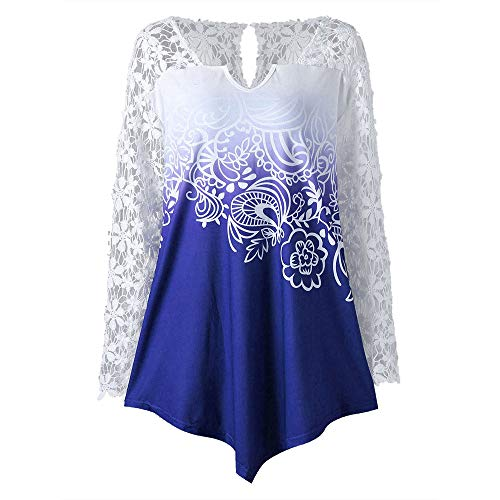 NREALY Women's Fashion V-Neck Long Sleeve Floral Lace