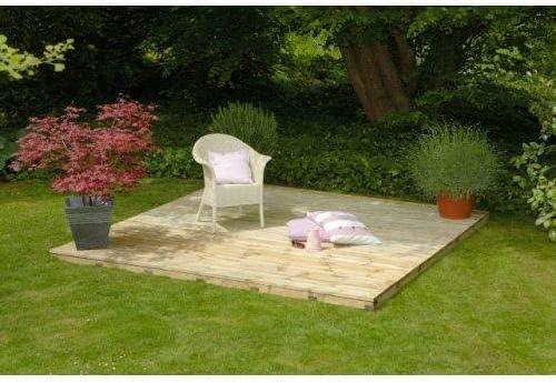 Juego de madera para jardín madera con base completa: Amazon.es: Jardín