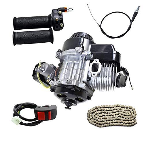 ZXTDR 2-Stroke Engine Motor & 25H Chain & Throttle Grips & Throttle Cable & Switch Kit for Dirt Bikes ATV Quad