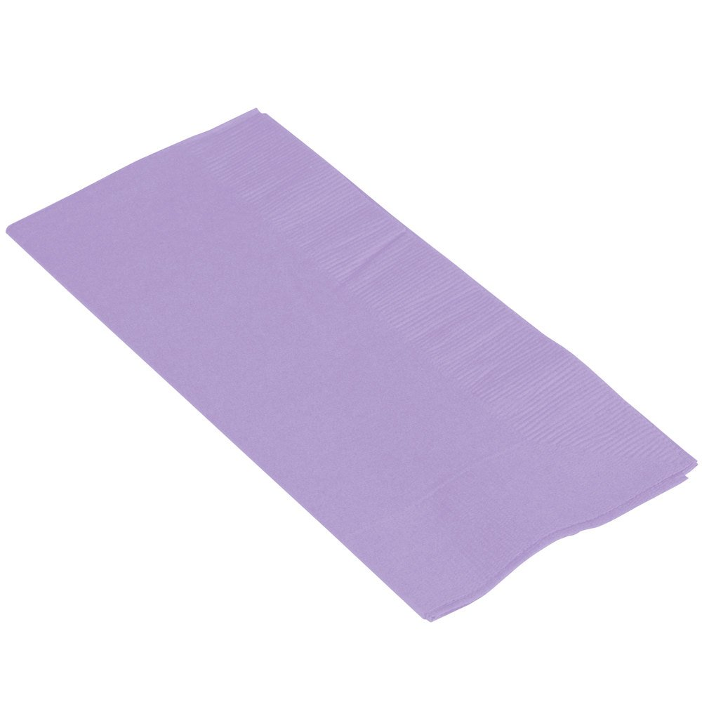 Amscan 63215.04 Big Party Pack 2‑Ply Guest Towels, Lavender Paper Napkins, 40 Pieces by amscan
