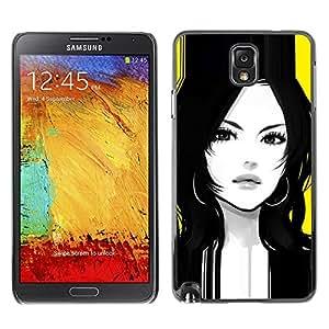 Be Good Phone Accessory // Dura Cáscara cubierta Protectora Caso Carcasa Funda de Protección para Samsung Note 3 N9000 N9002 N9005 // calm woman