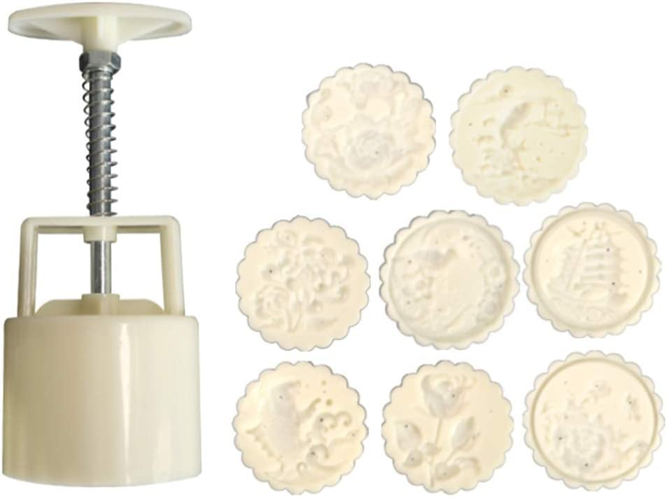 4 Flower Stamps DIY Baking Pastry Moon Cake Mould Tools Set 100g Mooncake Mold