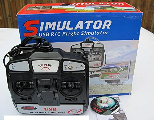 Price comparison product image DYNAM 6CH 6-Channel FMS USB RC Flight Simulator Software DVD with DYU-1002 Transmitter Mode 1 Right Throttle