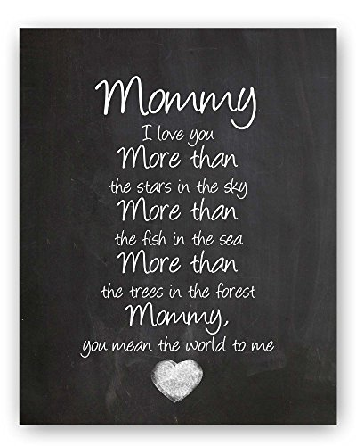 Mommy Quote Chalkboard Wall Art Print