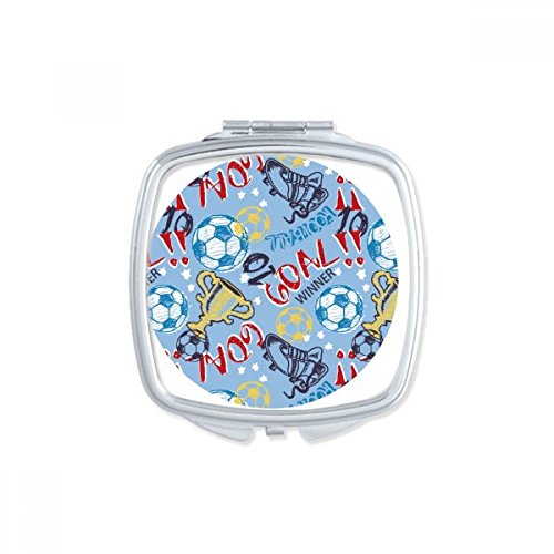 Goal Soccer Football Sports Winner Square Compact Makeup Pocket Mirror Portable Cute Small Hand Mirrors Gift by DIYthinker