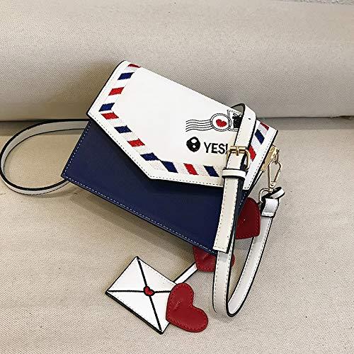 Bag Bleu Main Messenger Sauvage à Dames Sacs WSLMHH personnalité Bag Sac épaule carré nbsp;Messenger Fashion Petit ZxXgqgA6