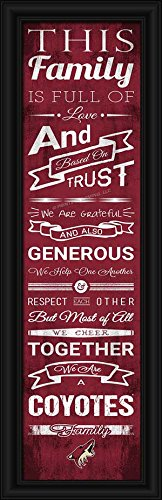 Laminated Visuals Phoenix Coyotes - Family Cheer - Framed Poster (Jobing Com Arena)