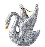 Value Arts Cloisonne Swan Christmas Ornament, Enamel on Copper