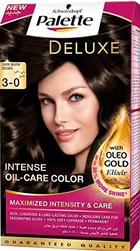 d8de39468e Image Unavailable. Image not available for. Colour: Henkel Palette Deluxe  Intense Oil Care Color, 3-0 Dark Warm Brown, 115ml
