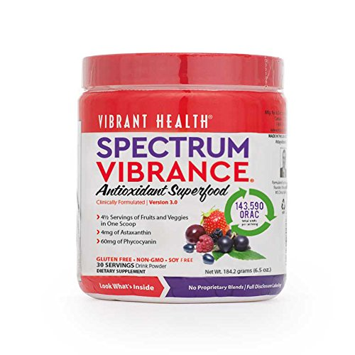 Vibrant Health - Spectrum Vibrance Superfood - A Phytonutrient Rich Superfood, 30 servings (FFP)
