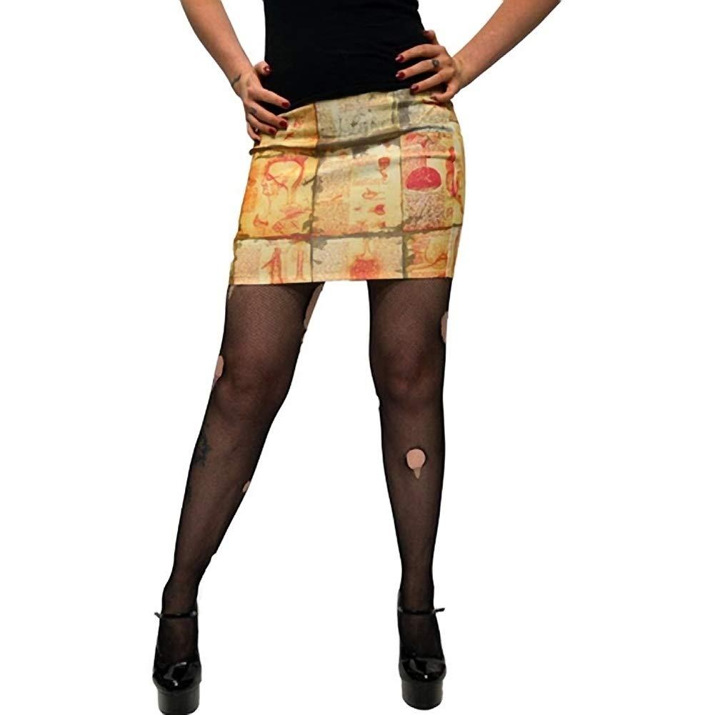 Kreepsville 666 Womens Anatomy Notes Mini Skirt Yellow At Amazon