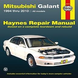 mitsubishi galant 1994 thru 2010 haynes repair manual john haynes rh amazon com 2007 Mitsubishi Galant Repair Manual 2005 Mitsubishi Galant Repair Manual