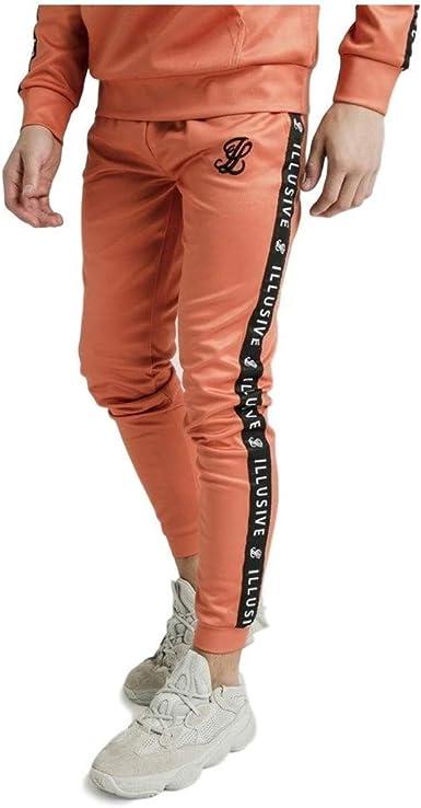 Illusive London Pantalón de Chandal Taped Naranja: Amazon.es: Ropa ...