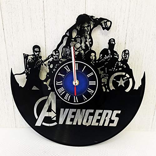 MARVEL COMICS AVENGERS HULK INFINITY WAR GIFT Wall Clock made from 12 inches 30 cm Vintage VINYL RECORD Vision GIFT FOR MEN BOYS HUSBAND Iron MAN INFINITY WAR AVENGERS INFINITY WAR MERCHANDISE