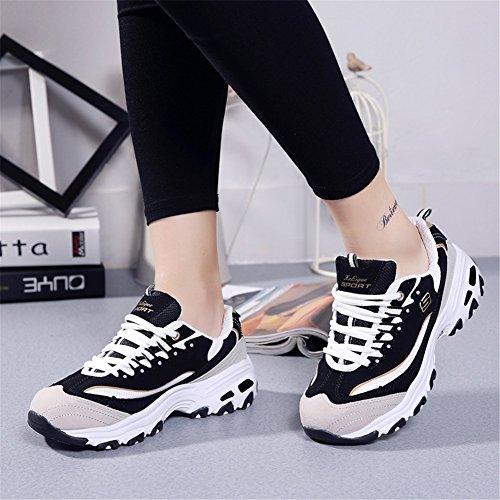 Amantes Mujer de Zapatos Altura Aumentar Nuevas Zapatillas para Bajas la de Zapatillas para la con Zapatillas Altura Otoño E Cordones v6nqCI5xnB