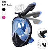 Unigear 180° Full Face Snorkel Mask -Panoramic View with Detachable for GoPro Mount