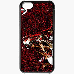 Personalized iPhone 5C Cell phone Case/Cover Skin Ac milan champions league winner Black