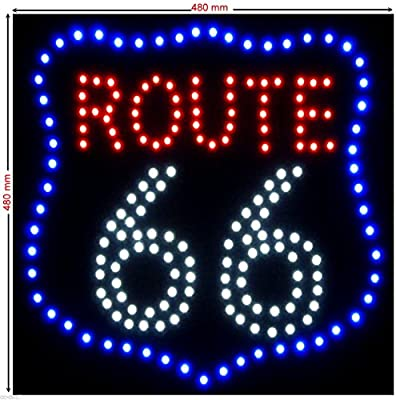 C&K LED Cartel XXL Route 66 Placa publicitaria ...
