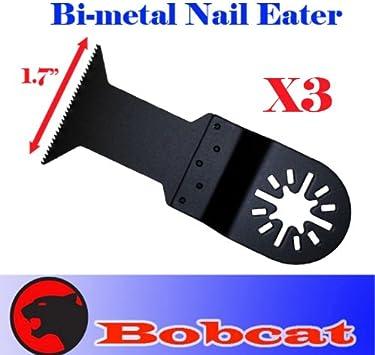 3 Pcs Nail Eater Oscillating MultiTool For Dremel Multi-max Bosch Multi-x Ridgid