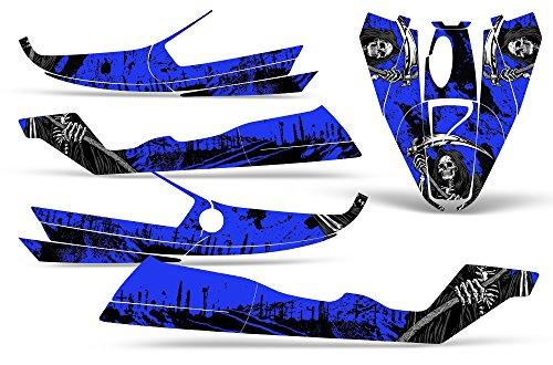 Bombardier SeaDoo GTS 92-97 Decal Graphic Kit Jet Ski Wrap Jetski Sea Doo REAPER BLUE by Wholesale Decals (Image #1)