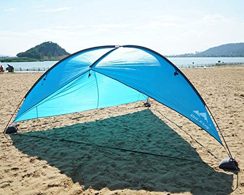 Oileus Super Big Canopy Tent with Sand Bags – Easy up Beach Tent Sun Shelter and Lightweight Sun Shade