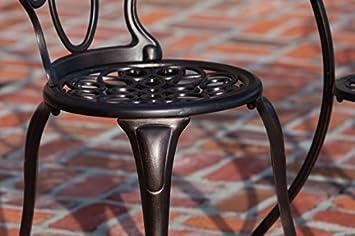 Patio Sense 63154 Danaris Bistro Set, Aged Copper